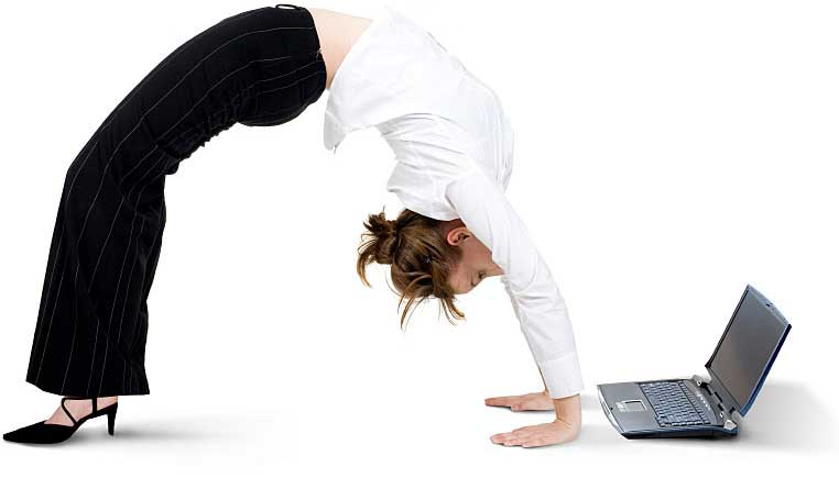 we bend over backwards for our customers